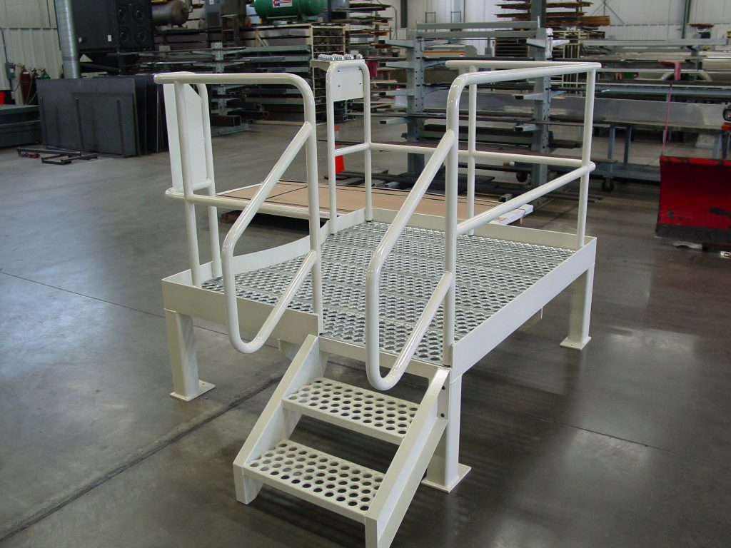 steel-platform-with-stairs